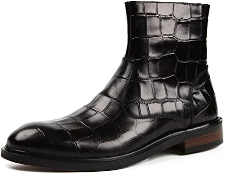 DHFUD Otoño E Invierno Zapatos Casuales De Los Hombres Altos De La Moda Botas De Inglaterra Martin
