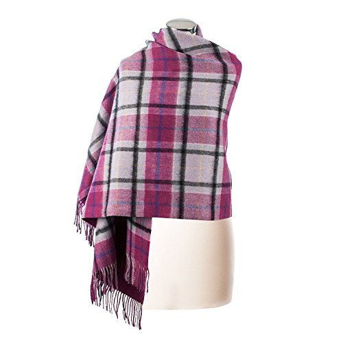 Edinburgh Lambswool - Etole - Femme Light Blue Check/Pink