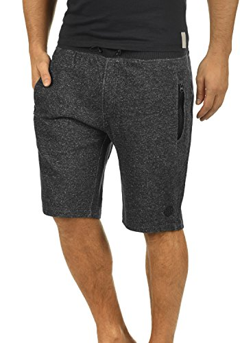 BLEND Rigins Herren Sweat-Shorts kurze Hose Sport-Shorts aus 100% Baumwolle, Größe:M, Farbe:Black (70155) (Fleece Sweat Shorts)