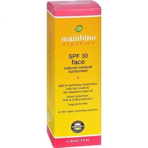 Mambino Organics Face Sunscreen SPF 30, Natural Mineral, 2 Fluid Ounce by Mambino Organics