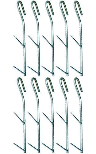 Räucherhaken-Set - 10 Behr Räucherzubehör Doppelhaken zum Fisch Räuchern