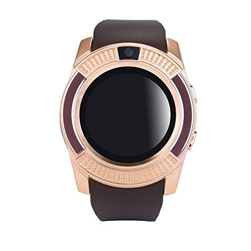 Jiameng smartwatches - compatto del telefono di gsm 2g sim dell'orologio di gsm bt3.0 per smartphone di ios android smart watch gold