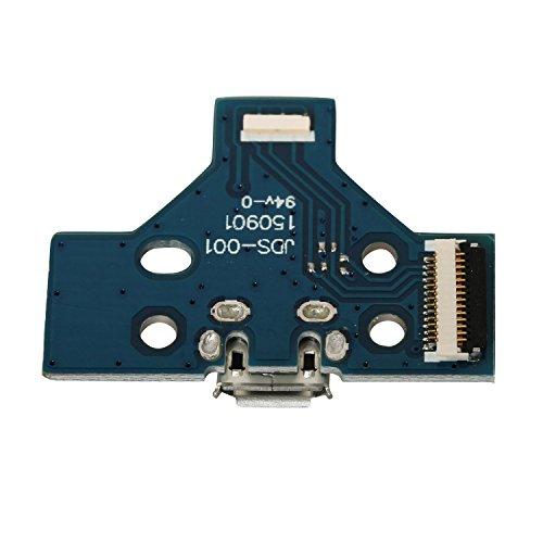 eJiasu 14 Pin Atemlicht Dreieck Mainboard, USB Aufladung Board Socket Ersatz für Dualshock 4 PS4 Controller JDS-001 (1pc) -