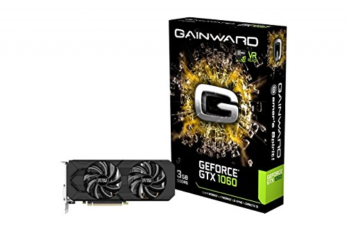 Gainward GeForce GTX 1060 GeForce GTX 1060 3GB GDDR5 - graphics cards (NVIDIA, GeForce GTX 1060, 4096 x 2160 pixels, 1506 MHz, 1708 MHz, 3 GB)