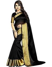 FabDiamond Women's Khadi Silk Saree With Blouse Piece(Kalamkari_Multi_Color Pure Cotton Free_Size Saree)