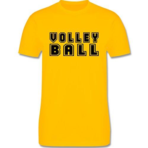 Volleyball - Volleyball Schriftzug - Herren Premium T-Shirt Gelb