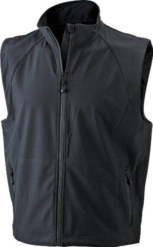 James & Nicholson Herren Jacke Softshellweste schwarz (black) X-Large (Golf Weste)
