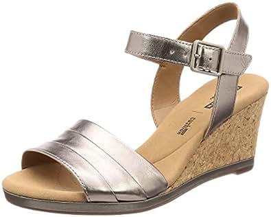 ab810843d5ac Image Unavailable. Image not available for. Colour  Clarks Women s Lafley  Aletha Ankle Strap Sandals ...