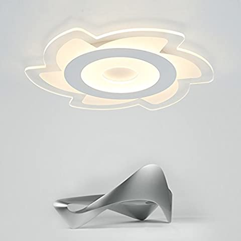 GYD LED Moderne Chambre Simple Enfants Chambre à coucher Étude Restaurant Promise Dimmer Acrylique télécommande plafonnier (porter la source de lumière, avec télécommande)