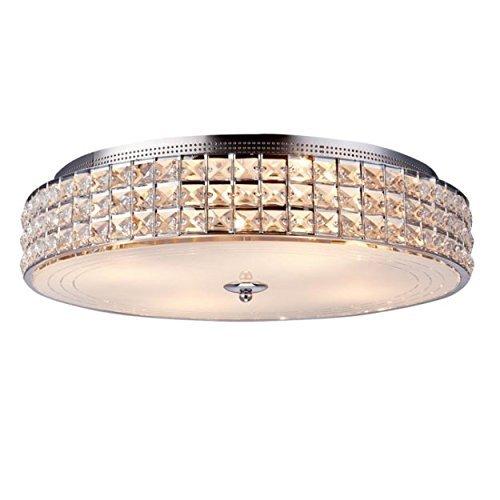 Glighone LED Kristall Deckenleuchte Rund Modern Kronleuchter Kristallkronleuchter Crystal Glas Deckenlampe E14x4 für Wohnzimmer Schlafzimmer Flur Küche Treppenhaus Restaurant Hotel usw.