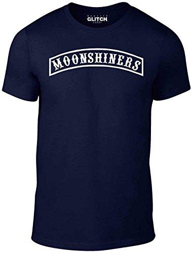 Reality Glitch Herren T-Shirt Moonshiners (Navy Blau, XXX-Large)
