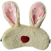 Moliies Oído Largo Conejo Sueño Máscara para los Ojos Banda elástica Cómoda Sombra de Ojos Ojos fríos Cubierta Que Alivia la Fatiga Protector para los Ojos