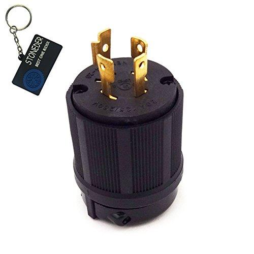 stoneder 20A L14–20P 4Zinken Sperren Plug 125V/250V UL Zulassung für Gas Benzin Generator (Locking Gas)