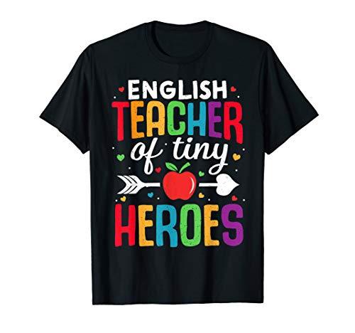 Englischlehrer zurück zum ersten Schultag Tiny Heroes 1st T-Shirt