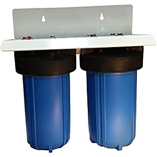 10 2 Stage Big Blue Whole House Complete Water Filter System with 4.5 diameter Sediment and Carbon Filters by Abundant Flow Water