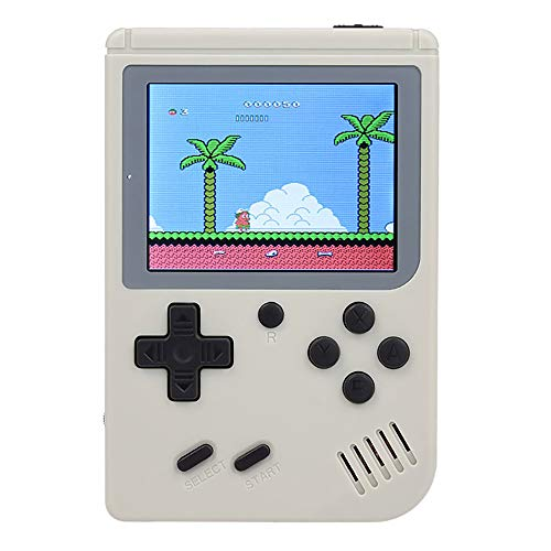 YAO Handheld Spielkonsole, Handheld Konsole 3 Zoll 313 Retro Spielkonsole Konsole, Entertainment System Videospielkonsole mit 3 Zoll 313 Klassische Spiele, spielkonsolen für Kinder (Weiß) (Game Boy-system)
