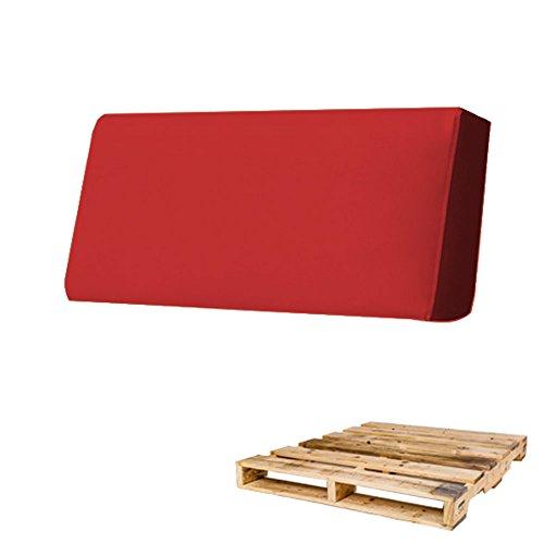 arketicom cuscino per pallet bancali schienale 80x30x15 rosso chiaro arredamento esterno moderno divani giardino bancale cuscini sfoderabili ecopelle gomma piuma poliuretano