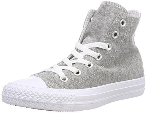 Converse Unisex-Erwachsene CTAS HI Gray White Fitnessschuhe, Grau 039, 42 EU