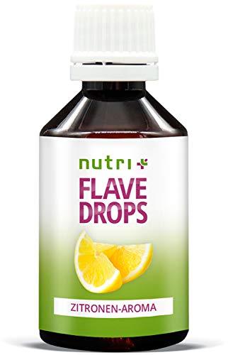 Flave Drops Zitrone 50ml - zero calorie sweets - Geschmackstropfen - Lemon Flavor Drop Vegan - Zitronenaroma ohne Zucker & Kalorien - Aromatropfen - hergestellt in Deutschland