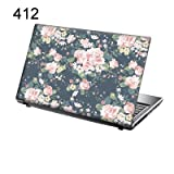 "TaylorHe Laptop Skins 156-412leather - Skin adhesivo para portátiles de 15,6"" (vinilo), diseño floral"