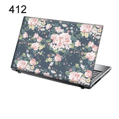 er Skin Vinyl Aufkleber mit bunten Mustern für 15 Zoll 15,6 Zoll (38cm x 25,5cm) Laptop Skin rosa Blumen ()