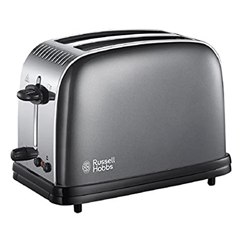Russell Hobbs 23332 Colours Plus 2-Slice Toaster, Grey by Russell Hobbs