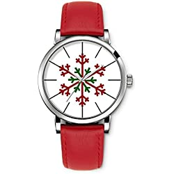 Watch vintage wrist watch leather for women ladies Girl Merry Christmas Xmas Gift