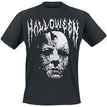 Halloween Michael Myers - Black Metal Logo Camiseta Negro cd67d9001b0e