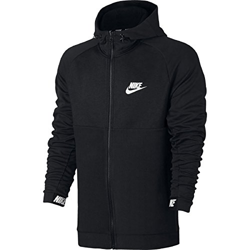 Nike Herren Sportswear Advance 15 Fleece Langarm Oberteil mit Kapuze Full-Zip, Black/Black/White, L (15 Hoodie)