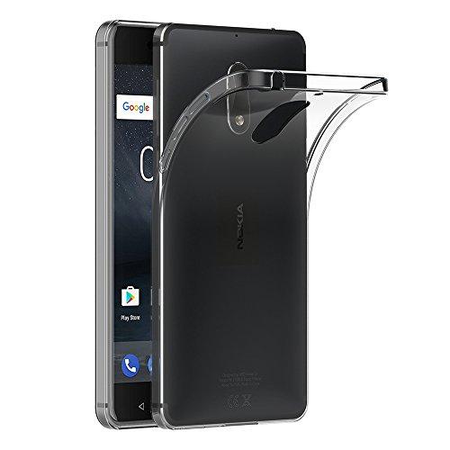 Nokia 6 Hülle, AICEK Transparent Silikon Schutzhülle für Nokia 6 Case Crystal Clear Durchsichtige TPU Bumper Nokia 6 Handyhülle