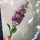 ZTTLOL Violet Dekorative Blumen Bouquet Künstliche Seidenblumen Single Mandary Tabelle Für Hochzeitsratgeber Party Dekoration