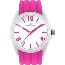 Watch-Analogue Quartz-Plastic Silicone-Pinkweiß