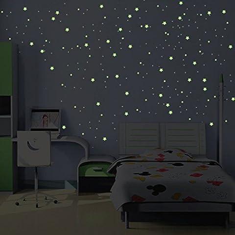 Stickers Voie Lactée Phosphorescente - 240 MINI étoiles et planètes