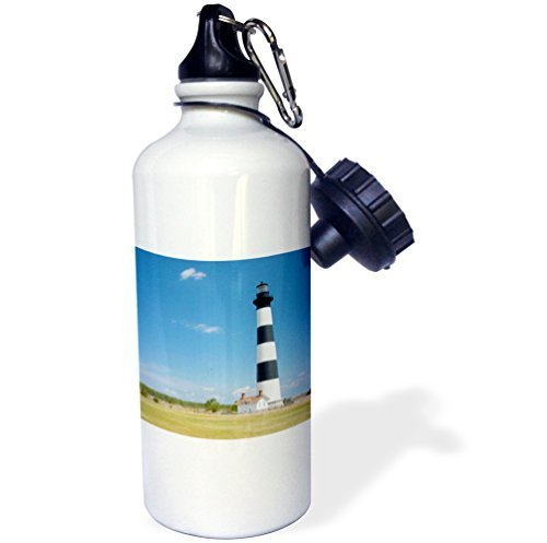 Sports Water Bottle Gift, Bodie Island Lighthouse Cape Hatteras White Stainless Steel Water Bottle for Women Men 21oz