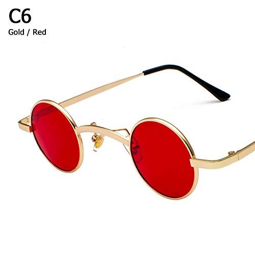 LETAM Sonnenbrille Vampire Style Sonnenbrillen Vintage Kleine Runde Brand Design Sonnenbrille Oculos De Sol
