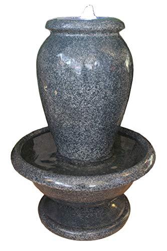 Arnusa Brunnen Amphore Wasserspiel Springbrunnen mit LED Beleuchtung Gartenbrunnen Zimmerbrunnen