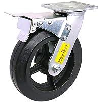 KK Verpackungen Treppensackkarrenrad PU-Vollgummi Ersatzrad Rad 155 mm Lochkreis Achsdurchmesser 16 mm
