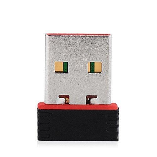 CABLEGALLERYTM Mini Wi-Fi Receiver 300Mbps, 2.4GHz, 802.11b/g/n USB 2.0 Wireless Wi-Fi Network Adapter
