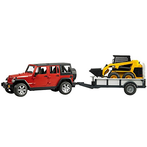 bruder-jeep-wrangler-unlimited-rubicon-and-one-axle-trailer-and-cat-skid-steer-loader
