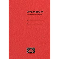RNK 3121 Verbandbuch zum Nachweis der Ersten Hilfe, bei Betriebsunfällen, 32 Seiten, DIN A5