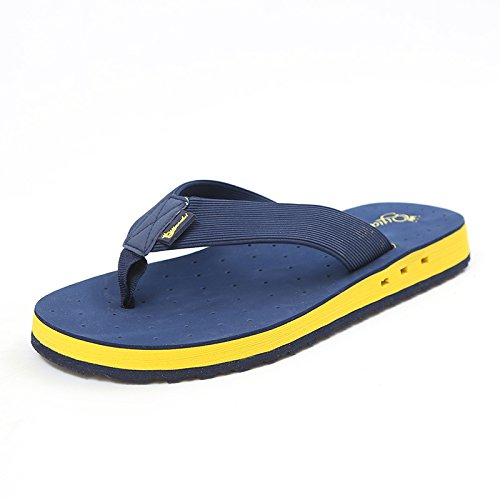 Flip Flops Sandali Da Spiaggia Da Uomo Pantofole Unisex Antiscivolo Vacanze Viaggi Turismo Seaside Outdoor Con Suole Spesse,Blue-41