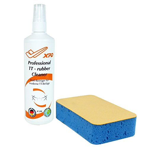 XDP Professional Table Tennis Rubber Cleaner - Pump Spray & Sponge - 200ml - Made in Germany