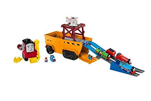 Thomas & Friends GDV38 Super Cruiser - Veicolo e Pista 2 in 1 con Motori Trackmaster e Minis, Multicolore