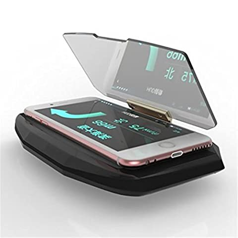 ONX3 Sony Xperia XZ Premium voiture universel double équerre support de HUD pour téléphone mobile de navigation GPS Affichage afficheur tête réflecteur Image Projecteur