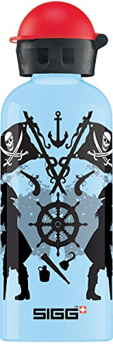 Sigg Jungen Trinkflasche Pirates of The Sea, Hellblau/Schwarz, 600 ml, 8484.2