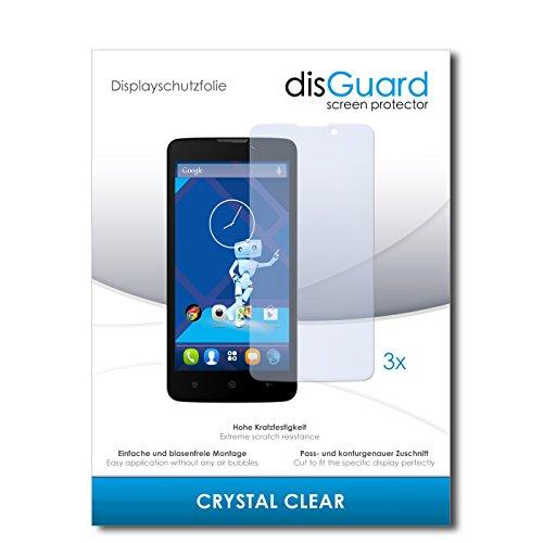 disGuard® Bildschirmschutzfolie [Crystal Clear] kompatibel mit Haier Phone L52 [3 Stück] Kristallklar, Transparent, Unsichtbar, Extrem Kratzfest, Anti-Fingerabdruck - Panzerglas Folie, Schutzfolie