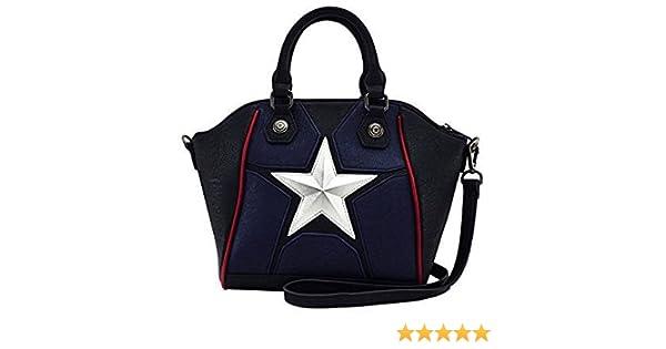 Marvel Captain America Star Duffle  Amazon.co.uk  Shoes   Bags 437d01999e28f