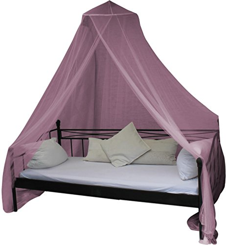 Mobiles Moskitonetz - Insektenschutz für In- und Outdoor - für Einzel- und Doppelbetten Farbe Pink