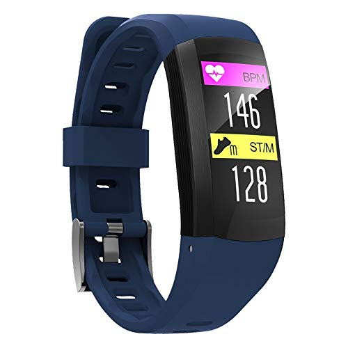 Jiameng smartwatches - s906 smart watch bracciale ip68 impermeabile orologio pedometro sport wristband gps smart watch con funzione gps blu