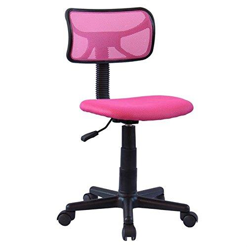 Prix IDIMEX Chaise de Bureau pour Enfant Milan Fauteuil pivotant et Ergonomique sans accoudoirs, siège à roulettes avec Hauteur réglable, revêtement Mesh Pink
